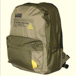 Vans old shool plus II olive green backpack